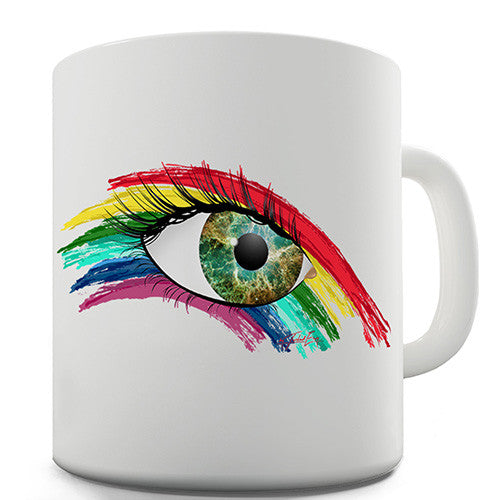Abstract Eye Rainbow Novelty Mug
