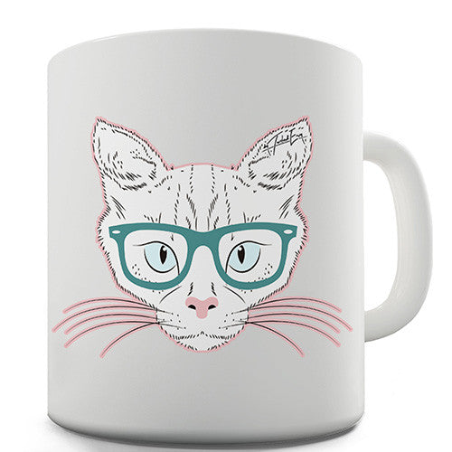 Hipster Cat Novelty Mug