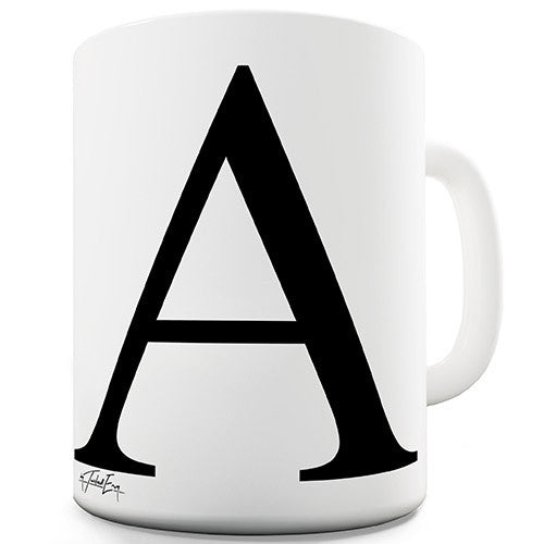 Alphabet Monogram A Novelty Mug