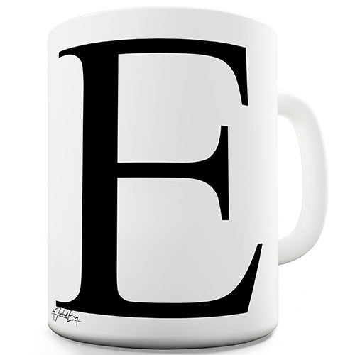 Alphabet Monogram E Novelty Mug