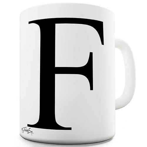 Alphabet Monogram F Novelty Mug