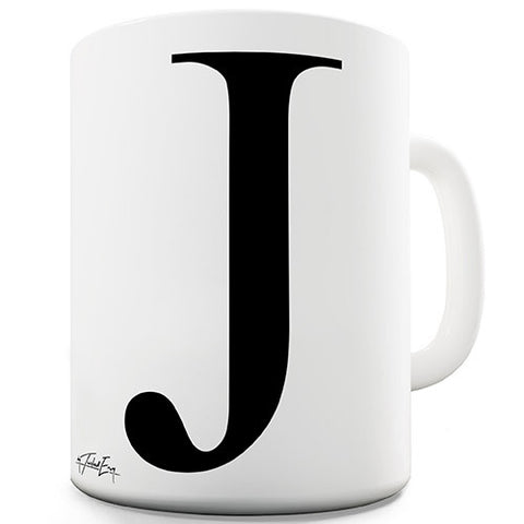 Alphabet Monogram J Novelty Mug