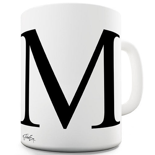 Alphabet Monogram M Novelty Mug