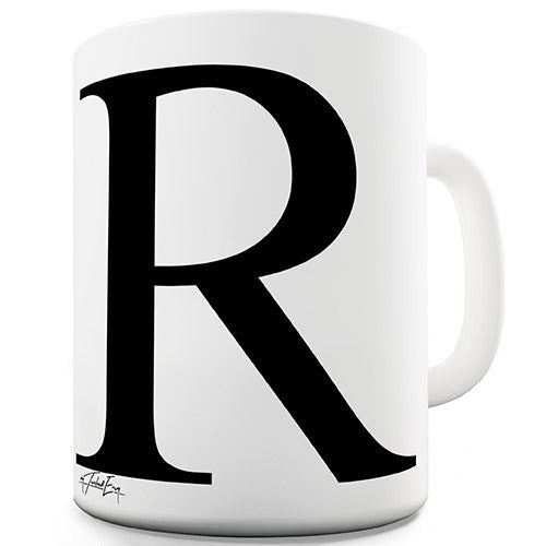 Alphabet Monogram R Novelty Mug