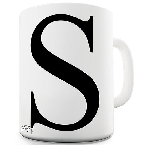 Alphabet Monogram S Novelty Mug