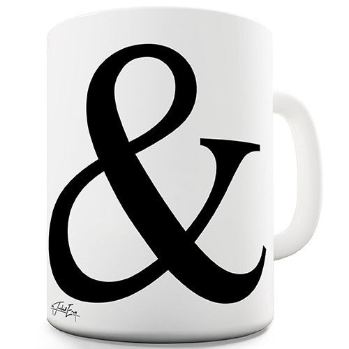 Alphabet Monogram & Ampersand Novelty Mug
