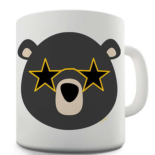 Disco Glasses Bear Novelty Mug