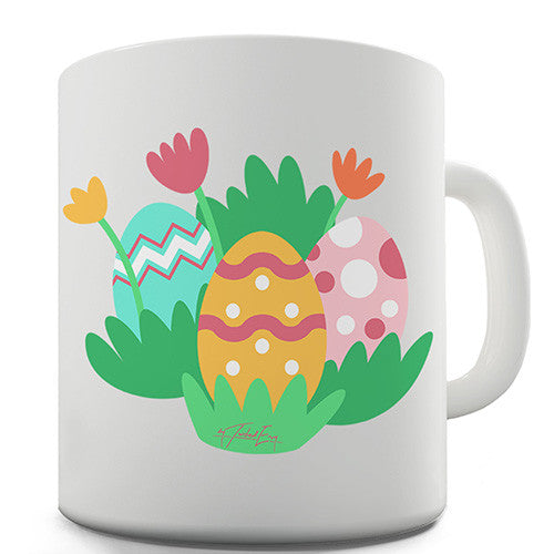 Easter Eggs And Flowers Novelty Mug