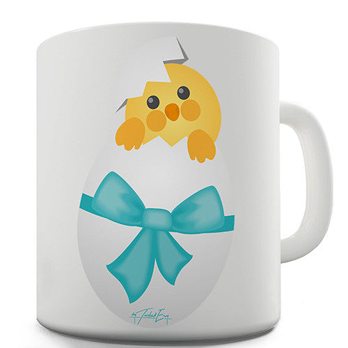 Easter Chick Bow Novelty Mug