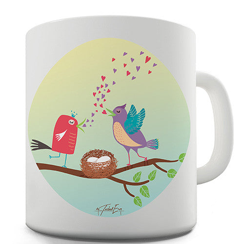 Love Birds Singing Novelty Mug