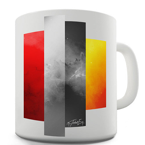 Decorative Colour Blocks Novelty Mug