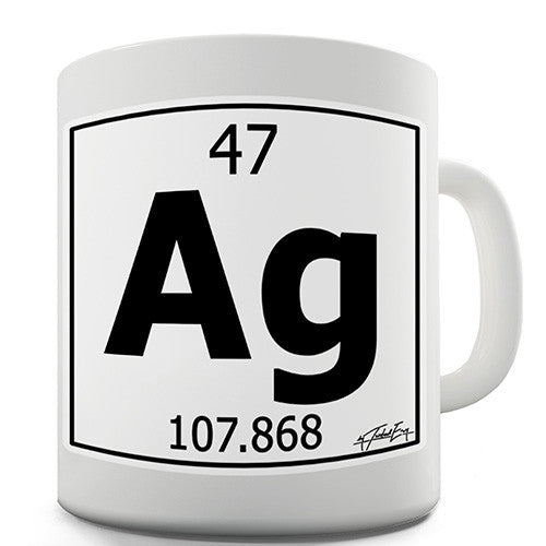 Periodic Table Of Elements Ag Silver Novelty Mug