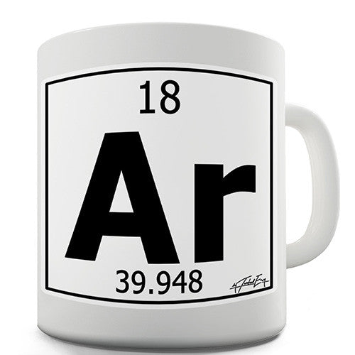 Periodic Table Of Elements Ar Argon Novelty Mug