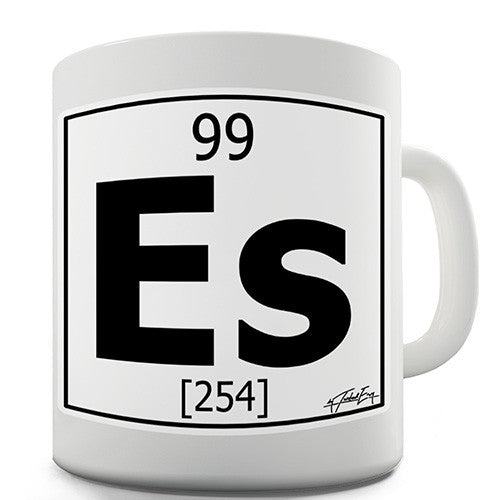 Periodic Table Of Elements Es Einsteinium Novelty Mug