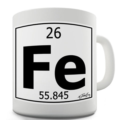 Periodic Table Of Elements Fe Iron Novelty Mug