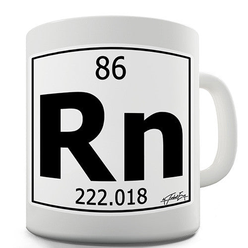 Periodic Table Of Elements Rn Radon Novelty Mug