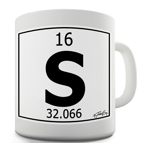 Periodic Table Of Elements S Sulfur Novelty Mug