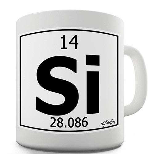 Periodic Table Of Elements Si Silicon Novelty Mug