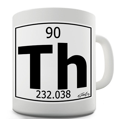 Periodic Table Of Elements Th Thorium Novelty Mug