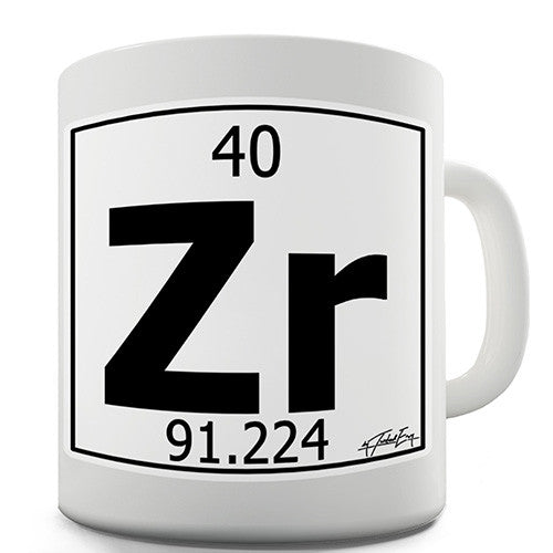 Periodic Table Of Elements Zr Zirconium Novelty Mug