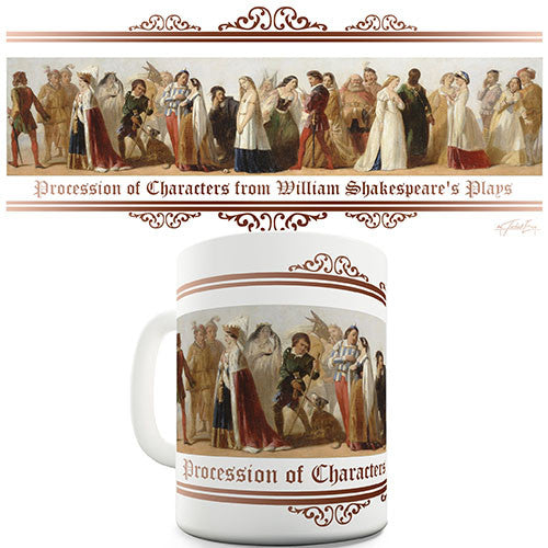 Characters From Shakespeare's Plays Novelty Mug