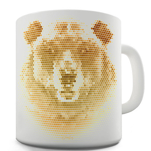 Halftone Bear Novelty Mug