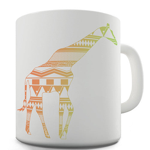 Patterned Giraffe Novelty Mug