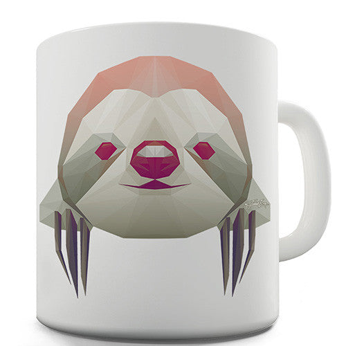 Geometric Sloth Novelty Mug