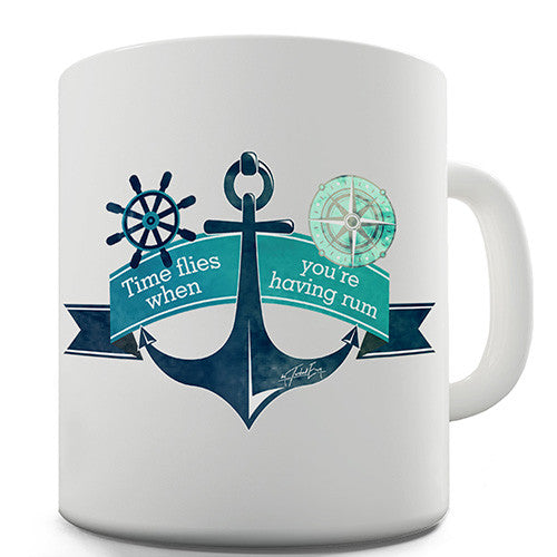 Time Flies When You're Having Rum Novelty Mug