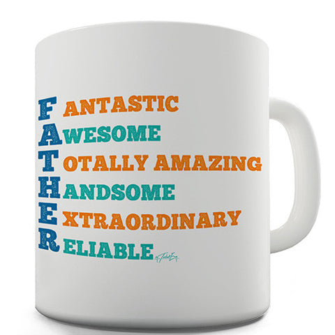 Father Acrostic Novelty Mug