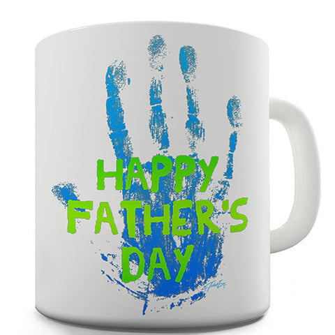 Father's Day Handprint Novelty Mug