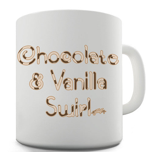 Chocolate And Vanilla Swirl Novelty Mug