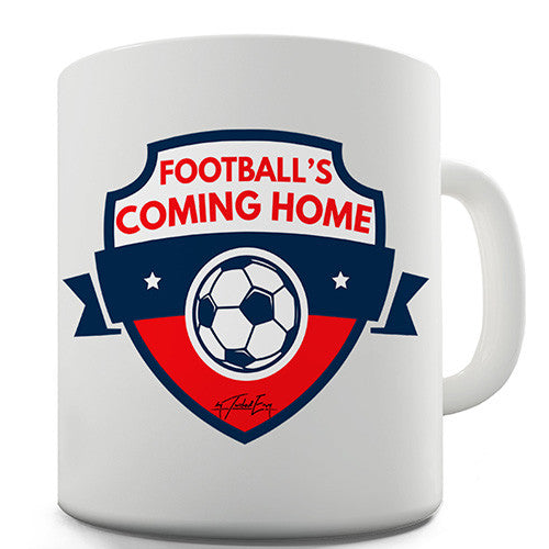 Footballs Coming Home Novelty Mug