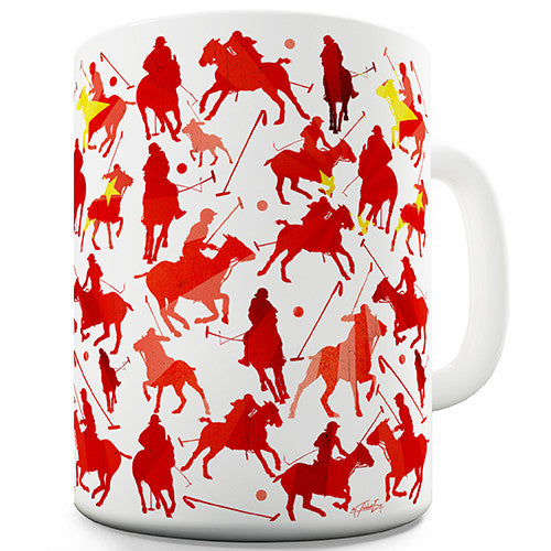 China Polo Collage Novelty Mug
