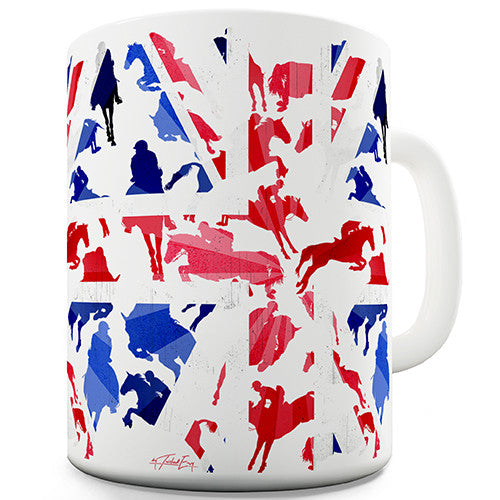 GB Show Jumping Silhouette Novelty Mug