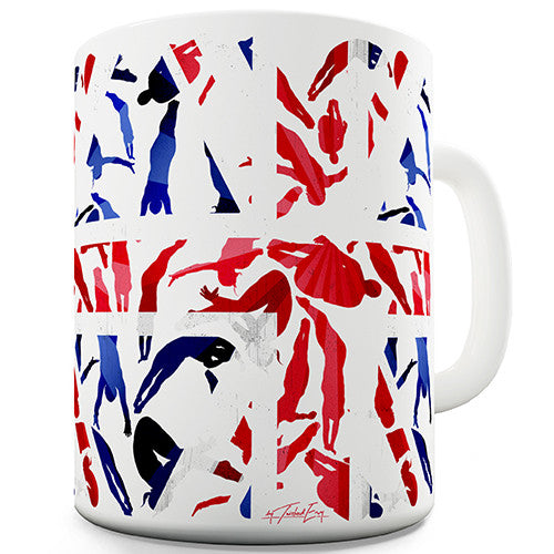 GB Diving Silhouette Novelty Mug