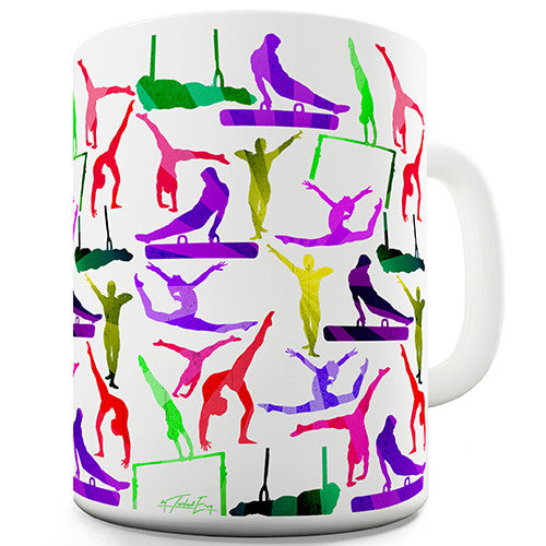 Artistic Gymnastics Rainbow Collage Novelty Mug