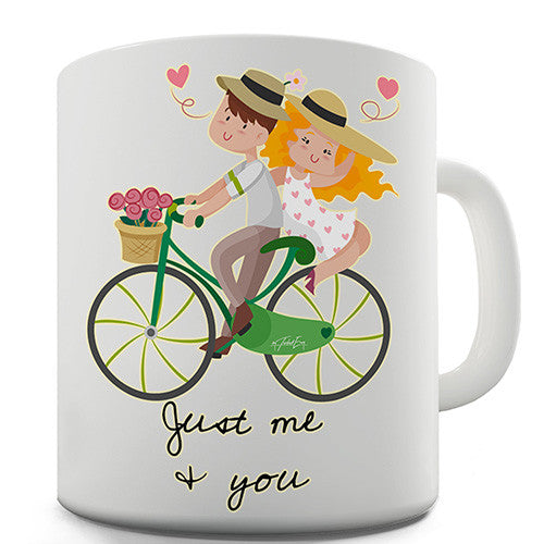 Bicycle Just Me and You Novelty Mug