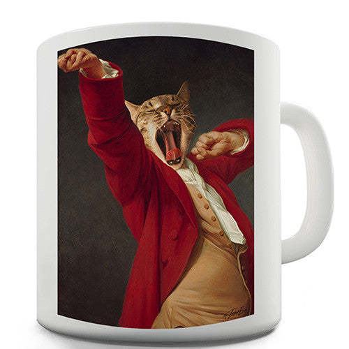 Joseph Decreux Cat Face Yawning Novelty Mug