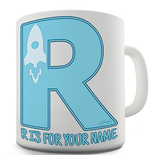 Your Name Letter R Personalised Mug