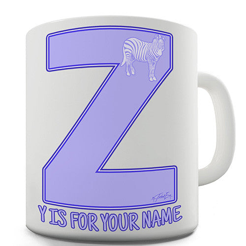Your Name Letter Z Personalised Mug