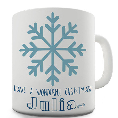Have A Wonderful Christmas Personalised Mug