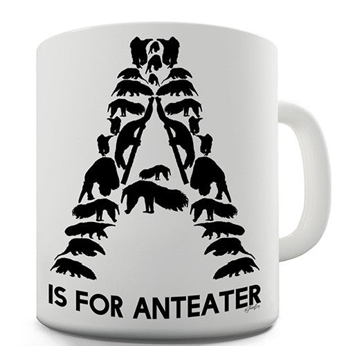 A Is For Anteater Novelty Mug