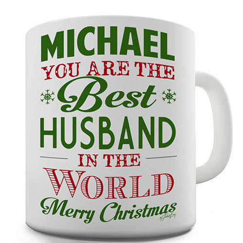Christmas Best Husband Personalised Mug