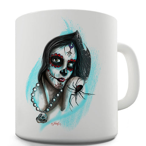 Sugar Skull Woman Novelty Mug