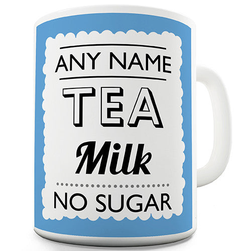 Blue Drink Order Personalised Mug