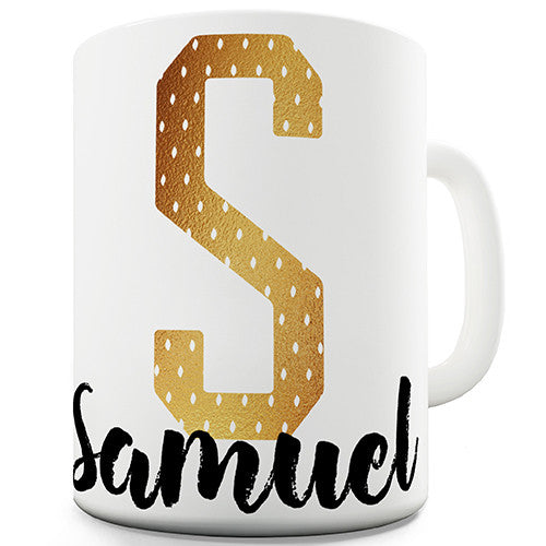 Name And Monogram S Personalised Mug