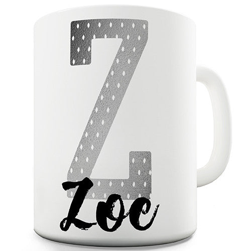 Name And Monogram Z Personalised Mug