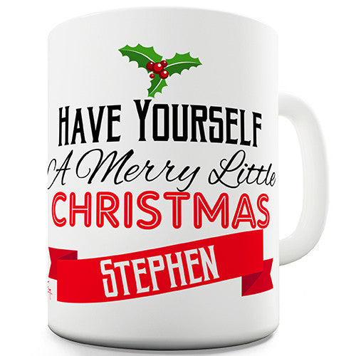 A Merry Little Christmas Personalised Mug