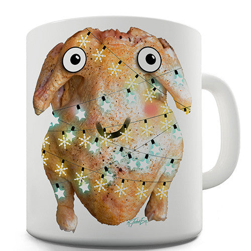 Cartoon Christmas Turkey Novelty Mug
